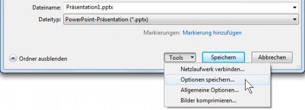 PowerPoint - TrueType-Schriften einbetten