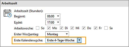 Outlook - Kalenderwoche einblenden