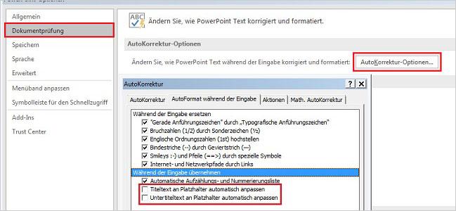 PowerPoint – Schriftverkleinerung