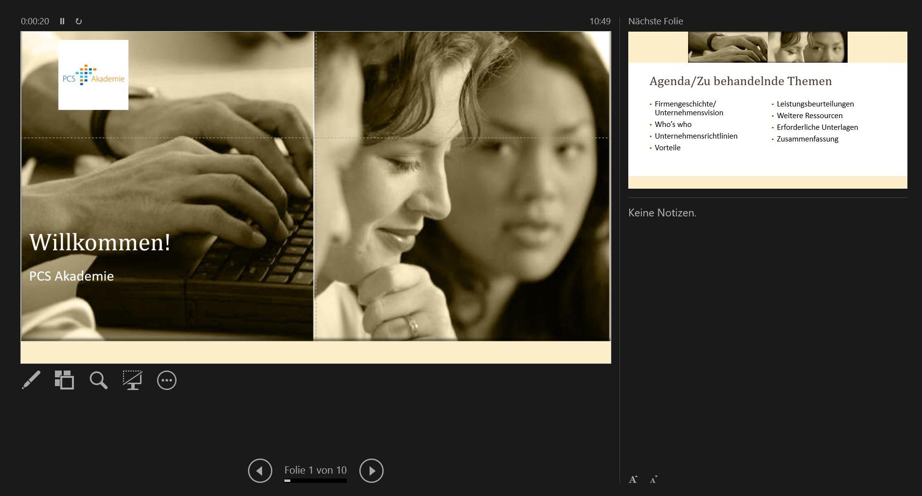PowerPoint mit zwei Monitoren