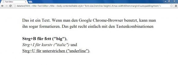 Der Browser als Texteditor