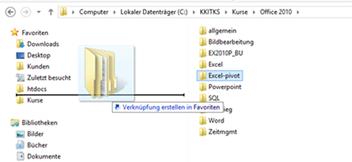 Windows: Ordner als Favoriten anlegen