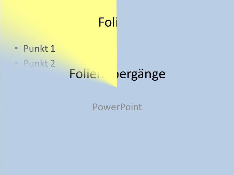 PowerPoint 2010: Übergänge zwischen Folien gestalten