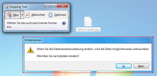 Schnelle Screenshots unter Windows mit dem Snipping Tool