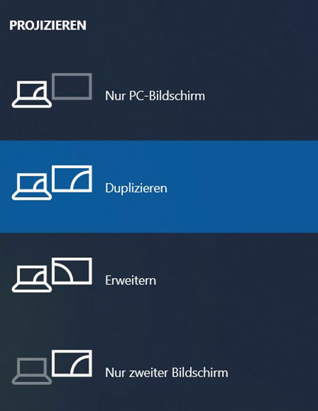 Windows - Projizieren