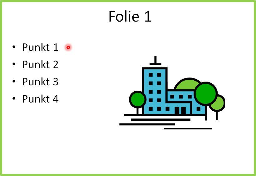 PowerPoint 2010: Maus als Laserpointer nutzen