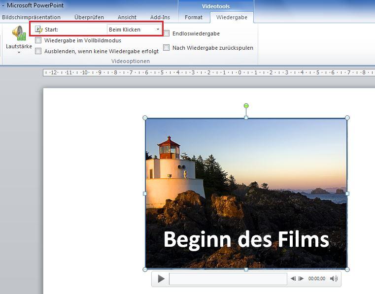 PowerPoint 2010: Videos und Audiodateien einbinden