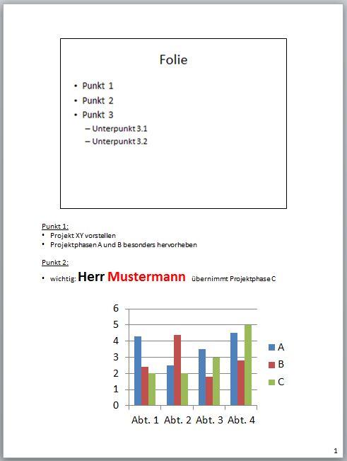 PowerPoint 2010: Notizenbereich