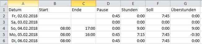 Excel: Auch in neuen Versionen mit negativen Zeiten rechnen