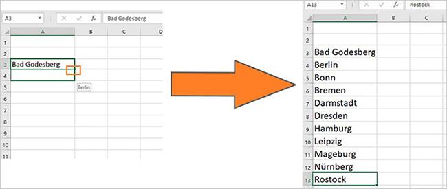 Excel – Listen automatisch ausfüllen