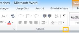 Word 2010: Standardeinstellungen anpassen