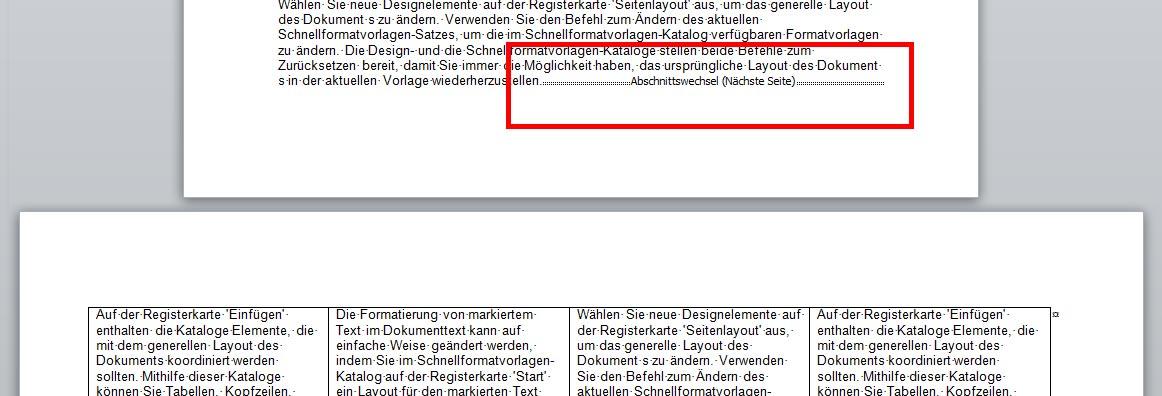 Word: Hochformat und Querformat im selben Dokument