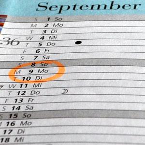 Datum ändern