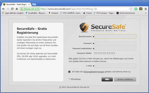 passw rter sicher verwalten mit securesafe pcs campus. Black Bedroom Furniture Sets. Home Design Ideas