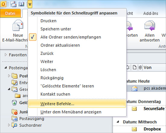 Outlook - Header auslesen - Teil 1