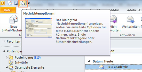 Outlook - Header auslesen - Teil 3