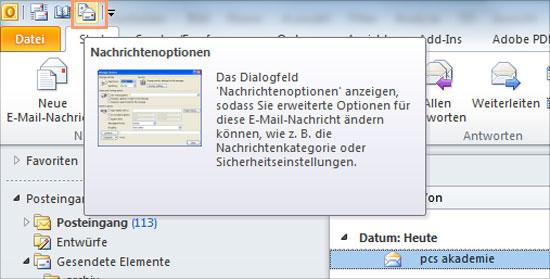Outlook - Header auslesen - Teil 3