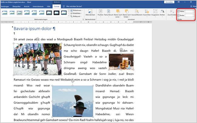Word - Bildgröße anpassen