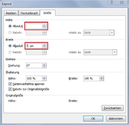 Screenshot 3 - Größe von Bildern