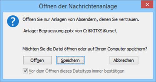 Outlook Dateiverknüpfung