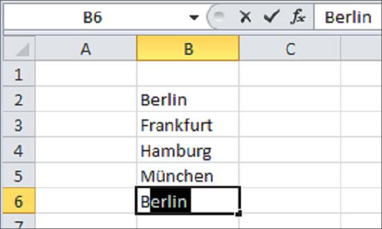 Merkfunktion in Excel