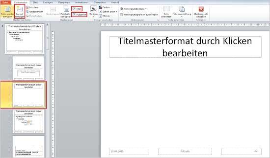 PowerPoint Mastervorlage