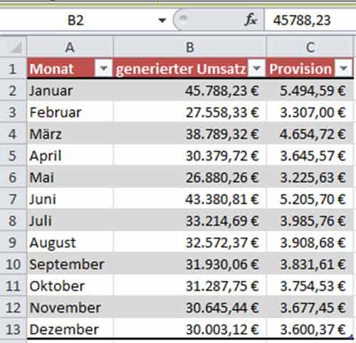 Excel - Unsichtbare Zellen