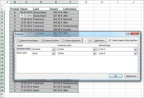 Excel Zwischenergebnisse