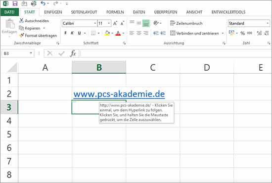Excel Hyperlinks abschalten
