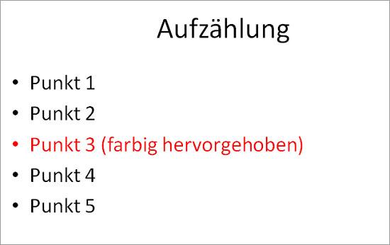 PowerPoint Aufzählungszeichen