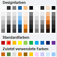 PowerPoint Farbauswahl