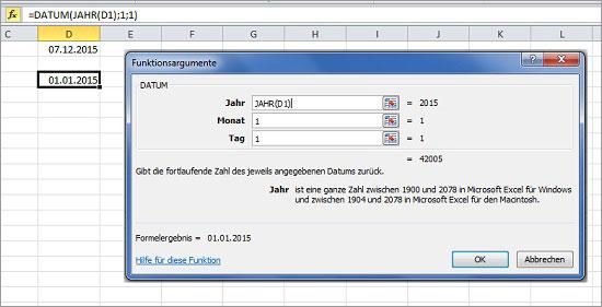 Excel Tage berechnen