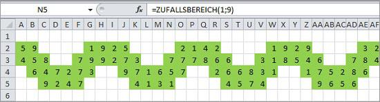 Excel Weihnachtsgirlande