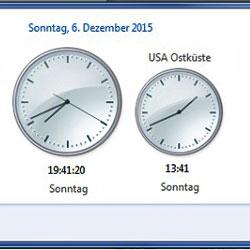 Windows Zeitzonen