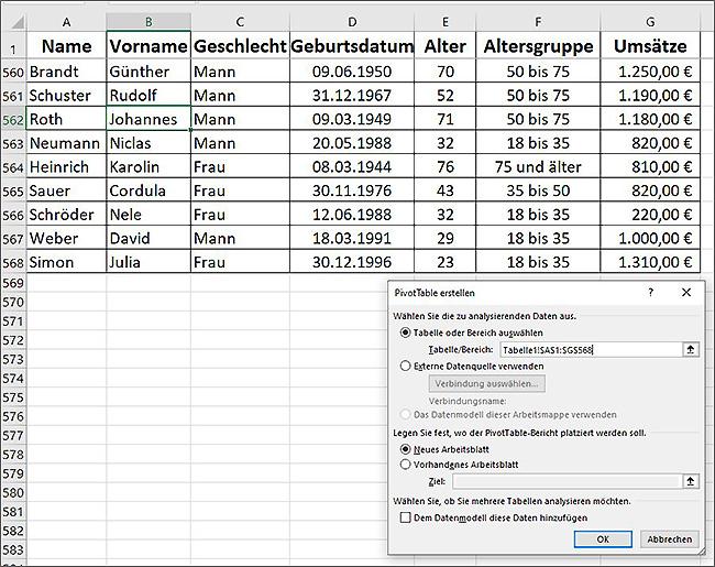 Excel - Pivot-Tabellen