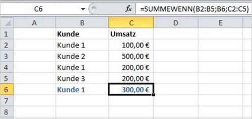 Excel - Addieren und Selektieren