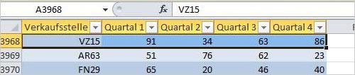 Excel: Tabelle einfügen