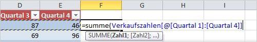Excel: als Tabelle formatieren