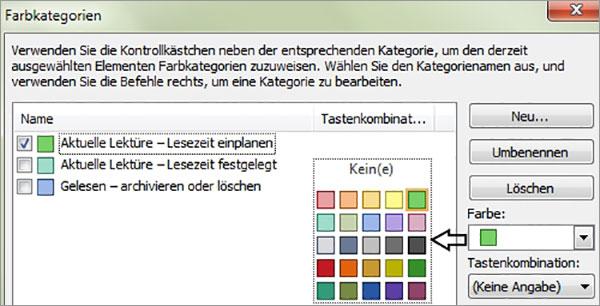 Outlook - Nachrichten farblich kennzeichnen
