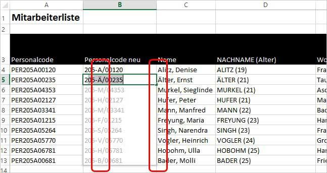 Excel - Blitzvorschau