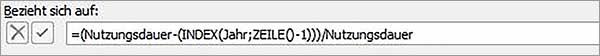 Excel – Formelnamen