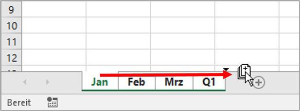 Excel Arbeitsblätter kopieren