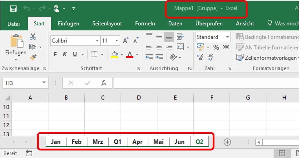 Excel: Arbeitsblätter ratzfatz kopieren | PCS Campus