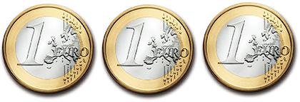 Der Euro rollt