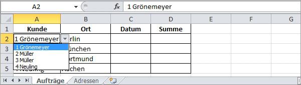 Excel SVERWEIS