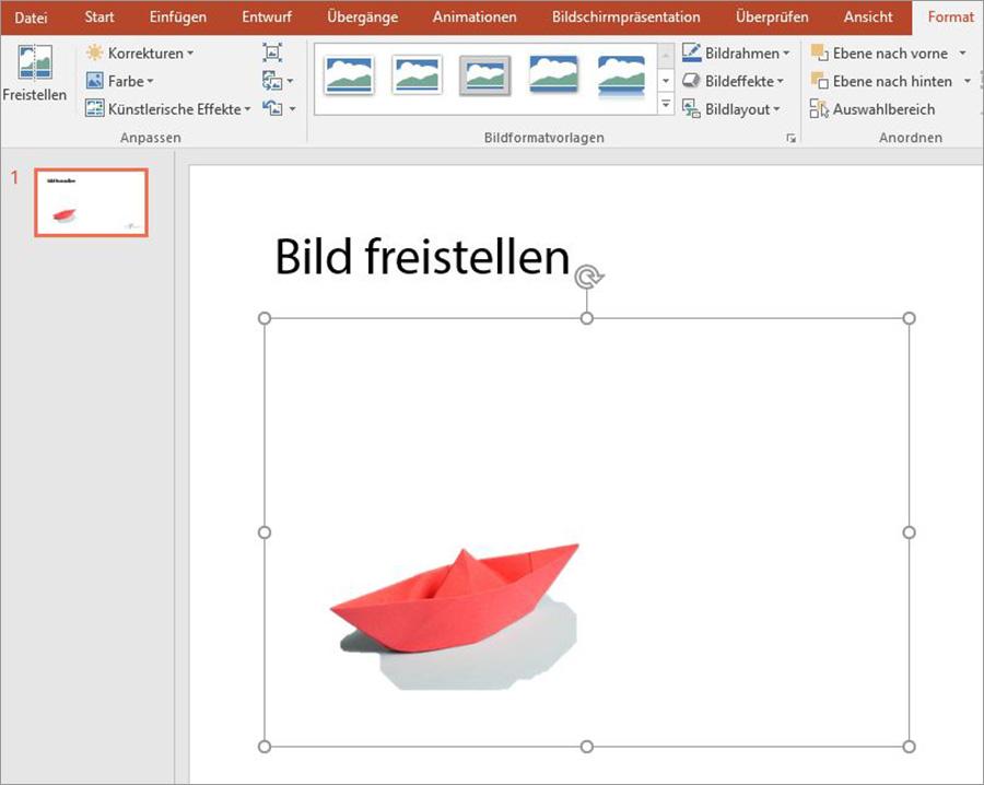 PowerPoint Bilder freistellen