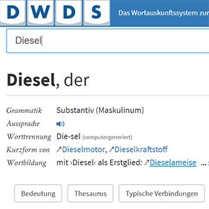 DWDS - Digitales Wörterbuch der deutschen Sprache