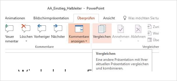 PowerPoint Kommentare