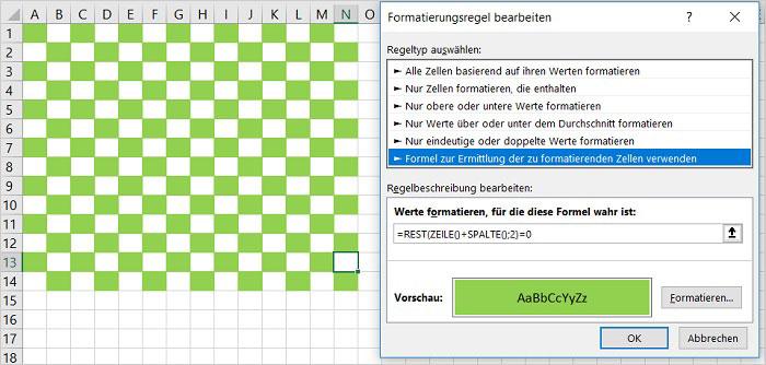 Excel - Zeilen farbig hinterlegen