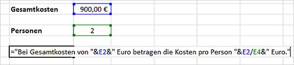 Excel Kombinieren